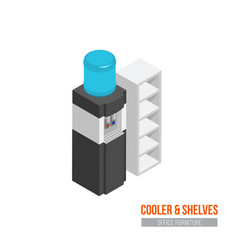 isometric cooler vector image