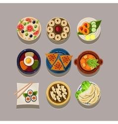 Korean food vector