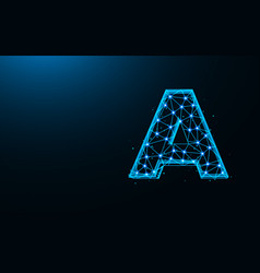 letter a low poly design alphabet abstract vector image