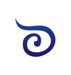 letter d modern logo vector image