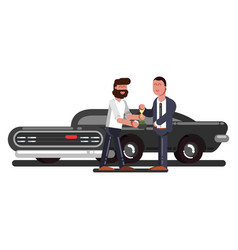 man buy a car vector image