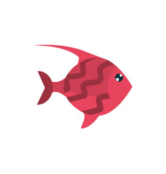 marine life red fish cartoon sea fauna animal vector image