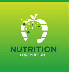 Mind nutrition logo designs vector