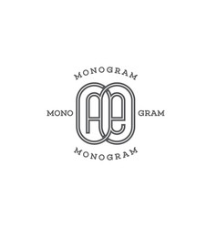 Monogram ae vector