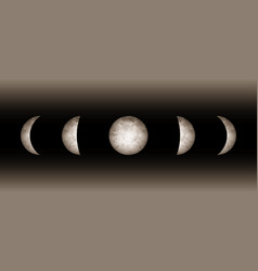 moon phases astronomy realistic image isolated vector image