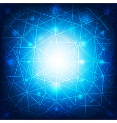 Network connection and network concept blue and vector image vector image