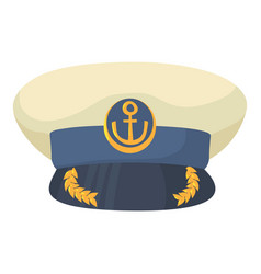 Officer cap icon cartoon style vector