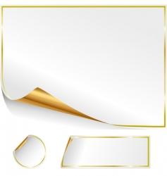 Paper labels vector