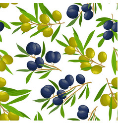 pattern with olive branches vector image