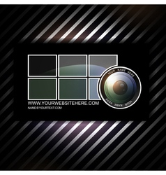 Photographer business card template vector