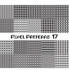 Pixel pattern seamless black and white color vector