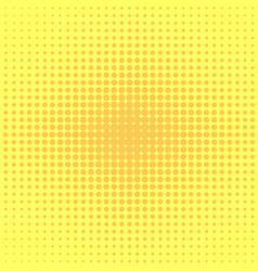 Pop art background orange yellow dots vector