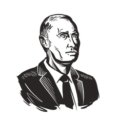 Putin President of Russian Federation vector