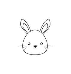 Rabbit drawing face vector
