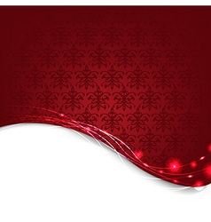 Red Damask Background vector image