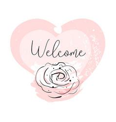 romantic rose border design vector image