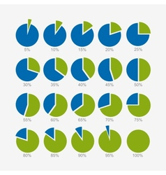 Set of circle diagram infographic design vector image
