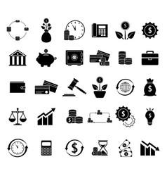 set of finance balance black icons vector image