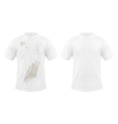 Set of of a white t-shirt vector