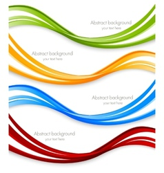 set of wavy banners vector image
