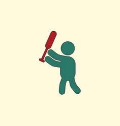 Silhouette a baseball player vector