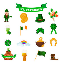St patrick s day icons vector