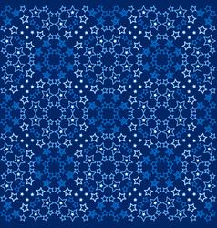 Starry blue pattern vector