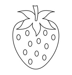 strawberry icon outline style vector image vector image