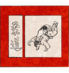 Third Judo fight stage five vector image
