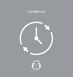 Time spending flat icon vector