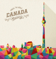 Travel Canada polygonal skyline vector