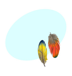 two hand drawn smoth orange and yellow tropical vector image vector image
