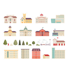 urban municipal houses different buildings vector image