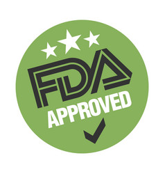 Us food and drug administration fda approved stamp vector