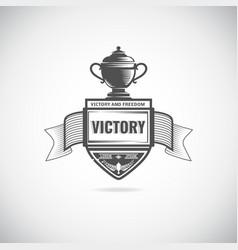 Winner logos vector