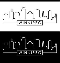 winnipeg skyline linear style editable file vector image