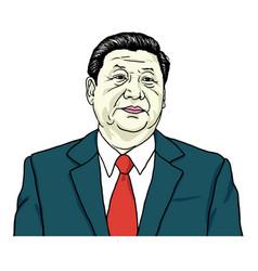 Xi jinping portrait portrait vector