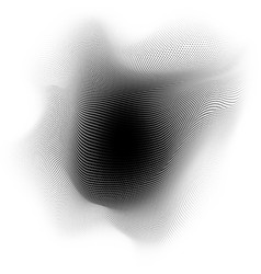 abstract dot waves particles background eps 10 vector image
