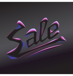 burning lettering sale vector image