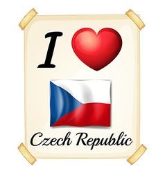 I love Czech Republic vector image