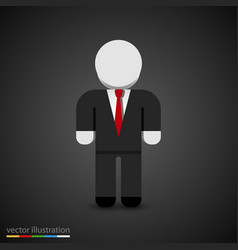 man in tuxedo sign businessman icon vector image vector image