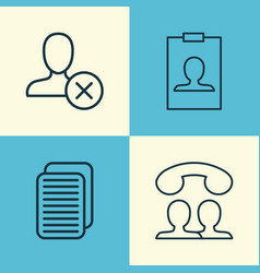 network icons set collection of internet site vector image vector image