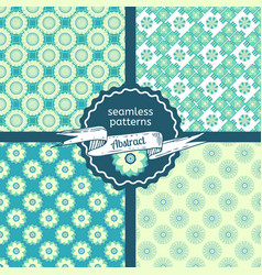 set of tribal texture geometric seamless patterns vector image vector image