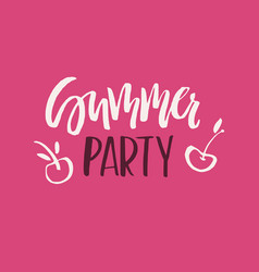 Summer party lettering vector