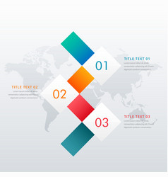 creative three steps infographic design template vector image vector image