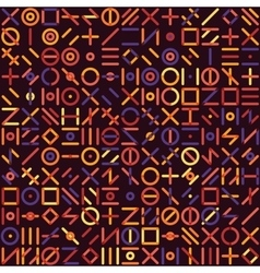 Seamless Multicolor Geometric Line Random vector image vector image