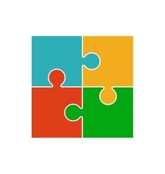 Four piece puzzle vector image vector image