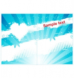 gift card design vector image vector image