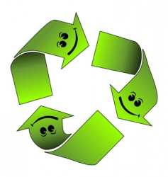recycle logo vector image vector image