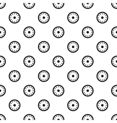 Round shield with metal rivets pattern vector image